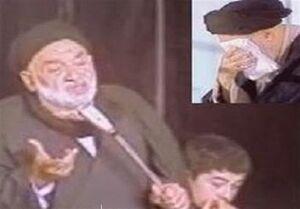ذکر مصیبت «شب دفن حضرت زهرا (س)» در حضور امام خمینی (ره) +فیلم