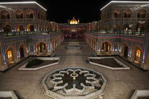 صحن بزرگ حضرت زهرا(س) در تلالو رنگها +عکس