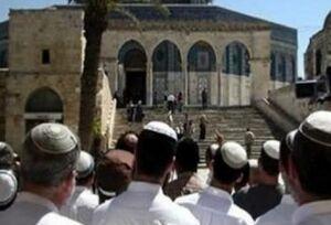 ورود یکصد صهیونیست به داخل مسجدالاقصی