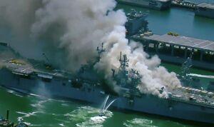کسانیکه در دود انفجار ناو آمریکایی خفته شدند