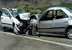 تصادف مرگبار ۲ دستگاه خودرو پرشیا و سمند در روستای سویسه