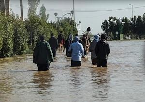 سیلاب در حال ورود به ۲ روستای شادگان است